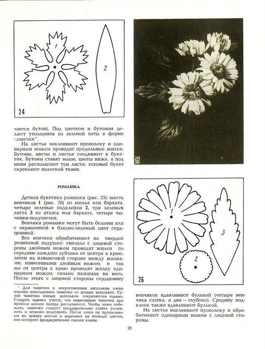 описание изготовления цветов из ткани20
