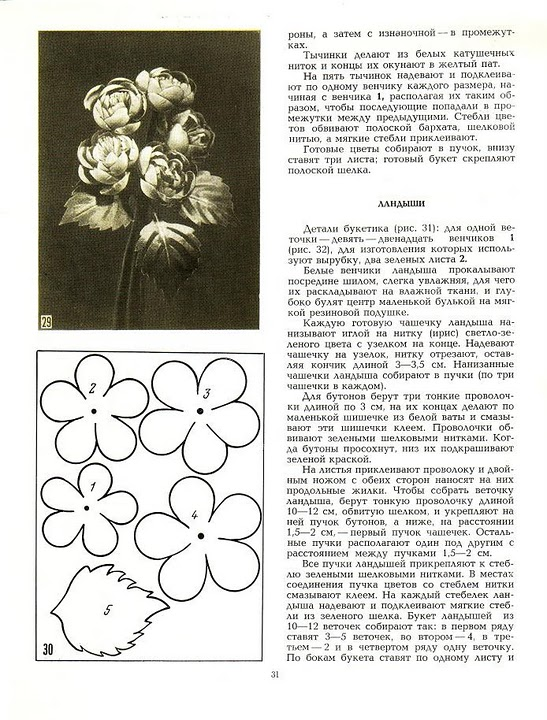 описание изготовления цветов из ткани22