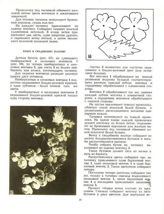 описание изготовления цветов из ткани32