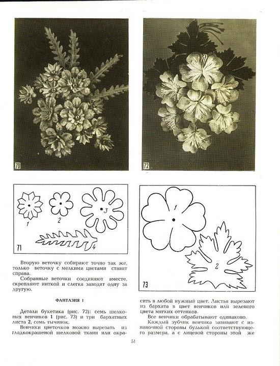 описание изготовления цветов из ткани34