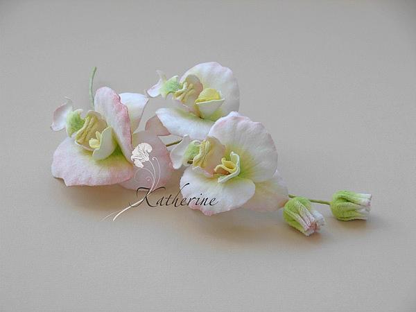 орхидеи из ткани
